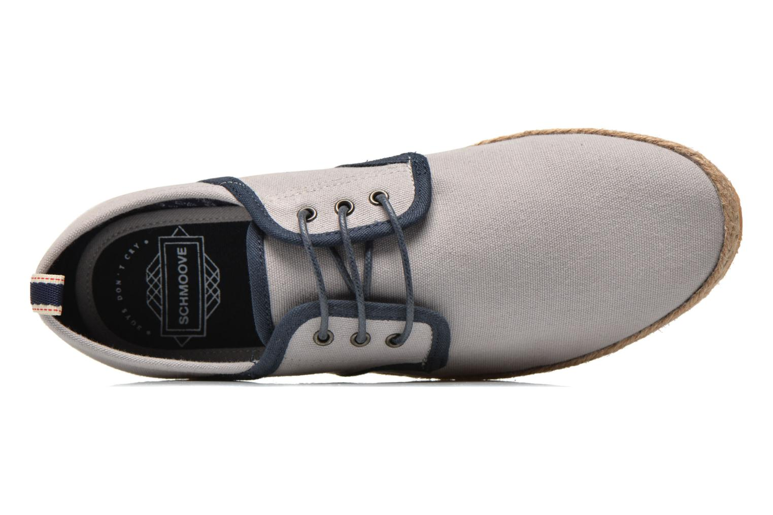 Lace-up shoes Schmoove Venice Side Soft Canvas Grey view from the left