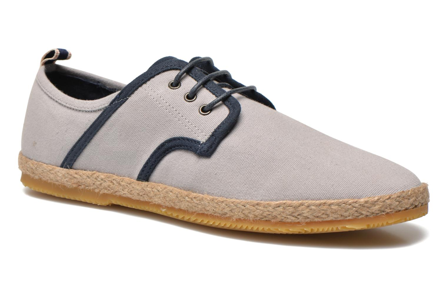 Lace-up shoes Schmoove Venice Side Soft Canvas Grey detailed view/ Pair view