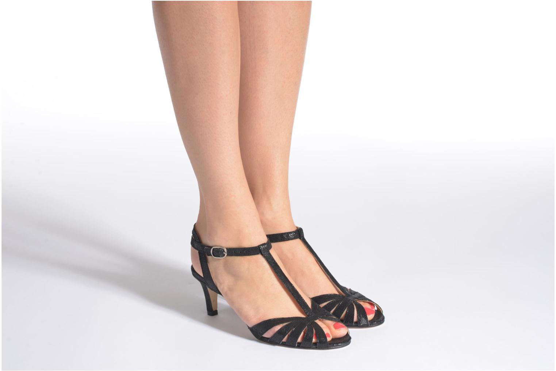 Sandales et nu-pieds Jonak Doliate Noir vue bas / vue portée sac