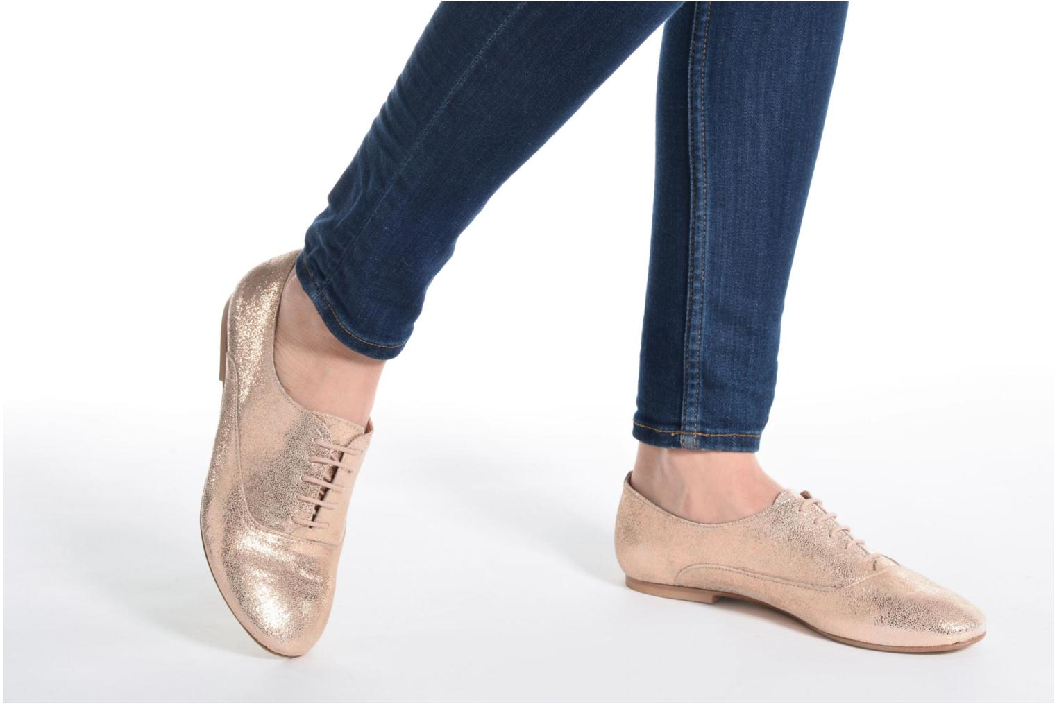 Lace-up shoes Jonak 2534 Bronze and Gold view from underneath / model view