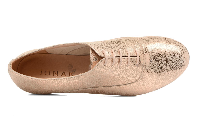 Chaussures à lacets Jonak 2534 Or et bronze vue gauche