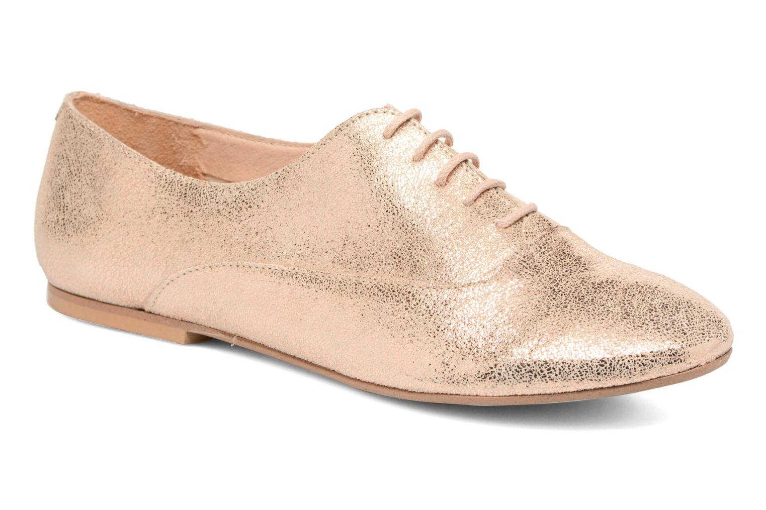 Lace-up shoes Jonak 2534 Bronze and Gold detailed view/ Pair view