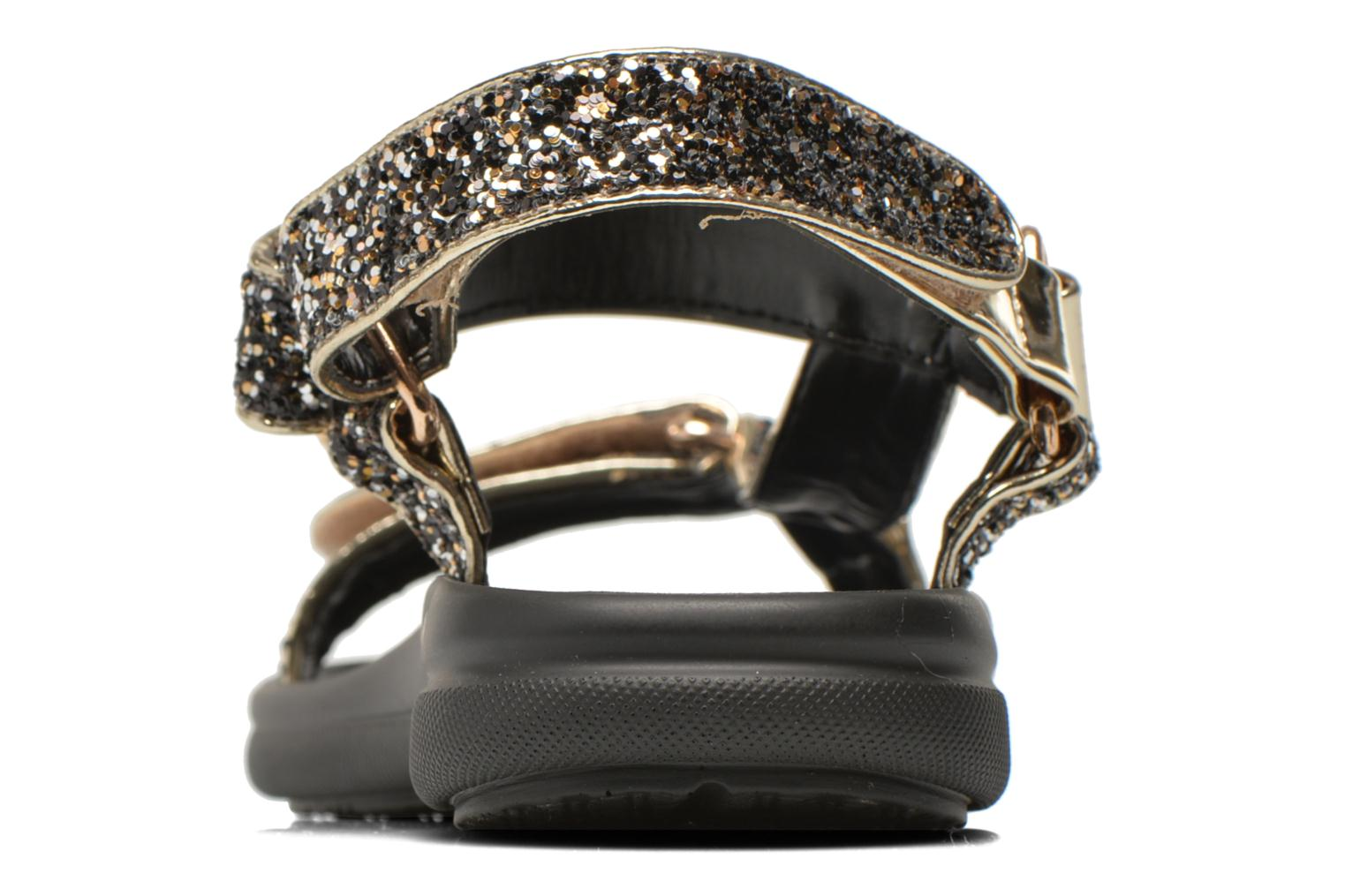 Sandals Blink Kuri Bronze and Gold view from the right