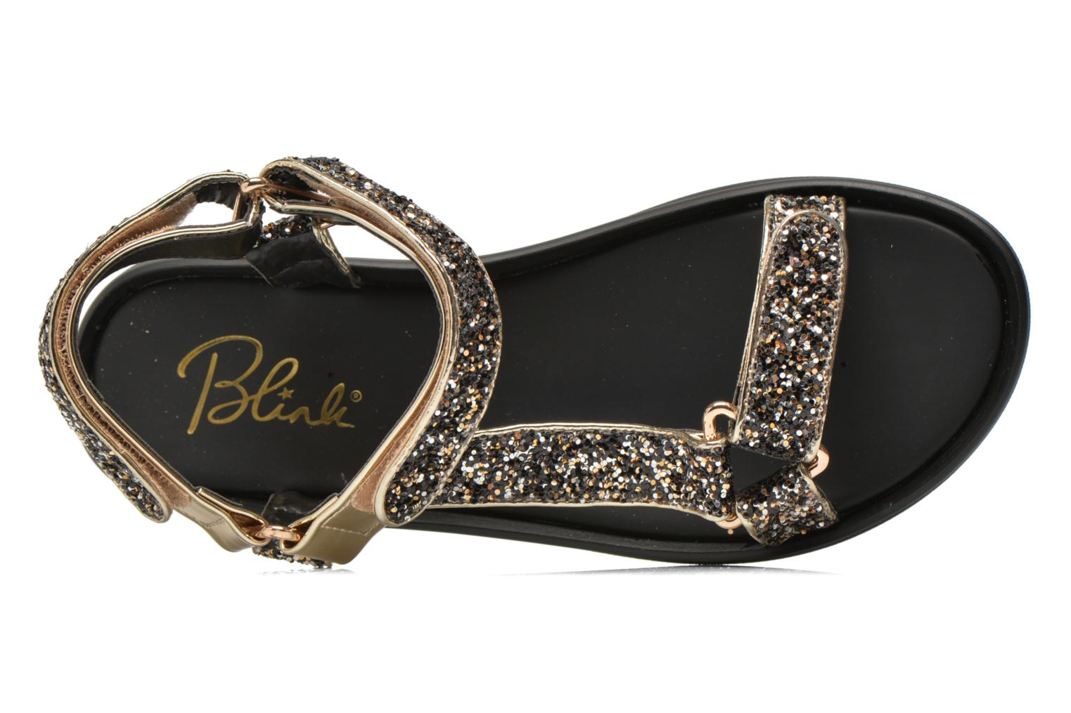Sandals Blink Kuri Bronze and Gold view from the left
