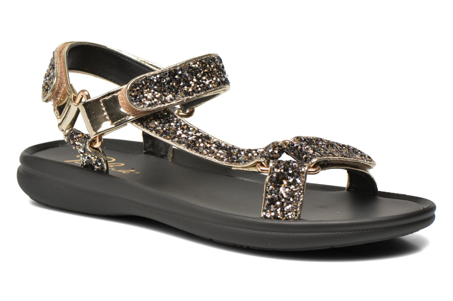 Sandals Blink Kuri Bronze and Gold detailed view/ Pair view