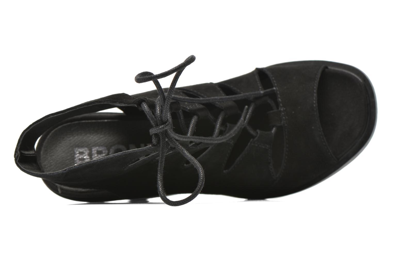 Sandalen Bronx Mila schwarz ansicht von links