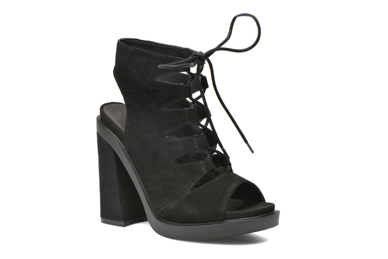 Sandalen Bronx Mila Zwart detail
