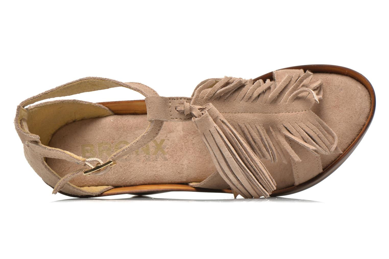 Sandales et nu-pieds Bronx Banner Beige vue gauche
