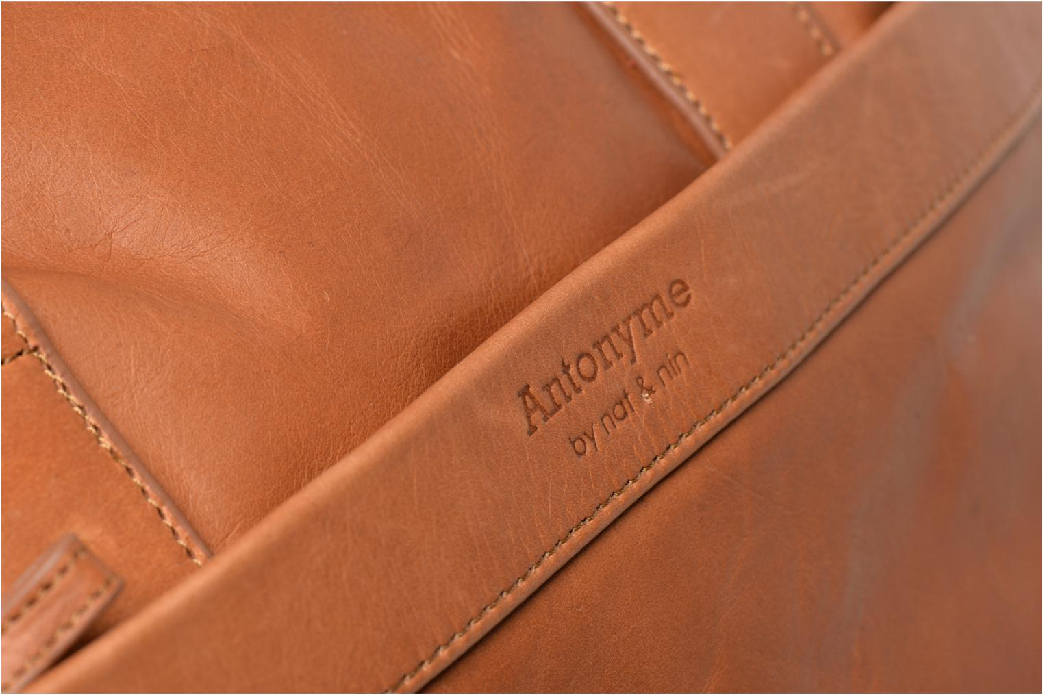 Laptop cases Antonyme by Nat & Nin Lorenzo Brown view from the left