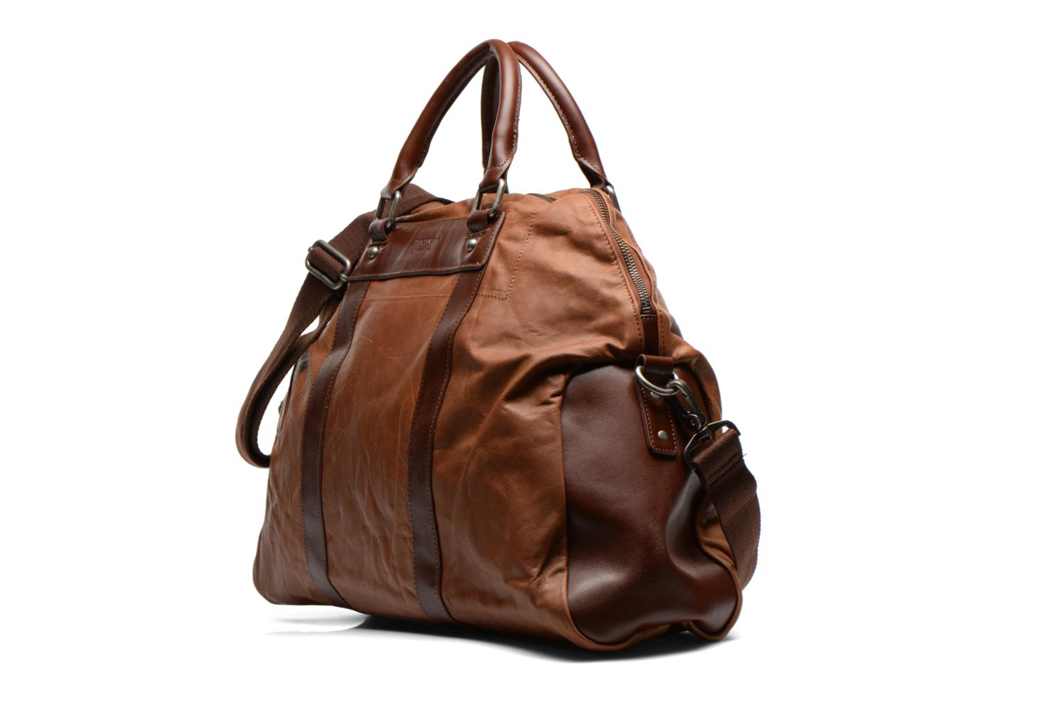 Bagages Antonyme by Nat & Nin Guido Marron vue portées chaussures