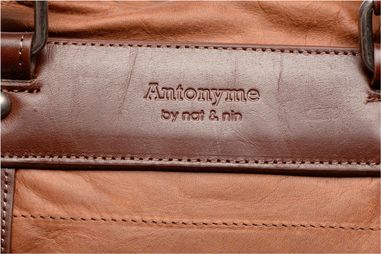 Reisegepäck Antonyme by Nat & Nin Guido braun ansicht von links