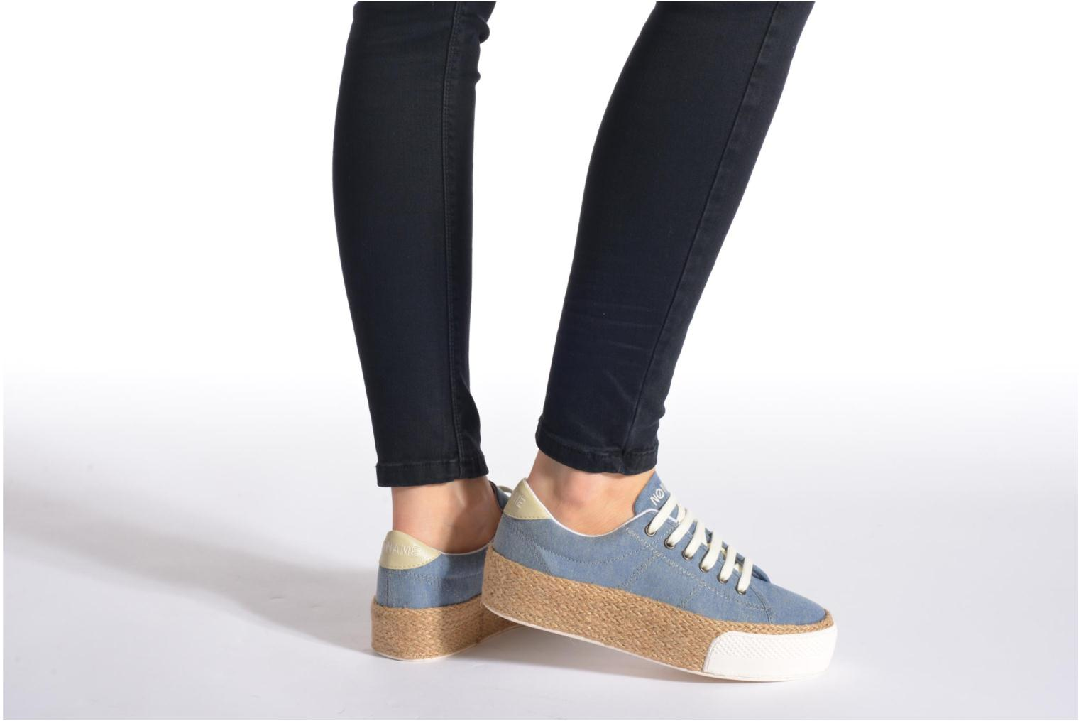 Baskets No Name Sunset Sneaker Molitor Bleu vue bas / vue portée sac