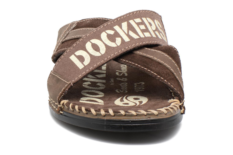 Sandalen Dockers xy17 braun schuhe getragen