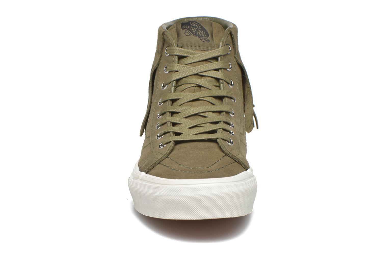 Sneaker Vans SK8-Hi Moc grün schuhe getragen