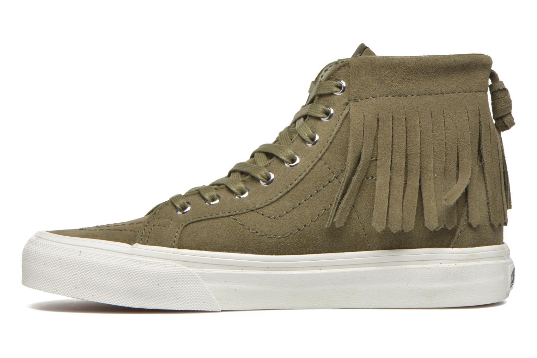 Sneaker Vans SK8-Hi Moc grün ansicht von vorne
