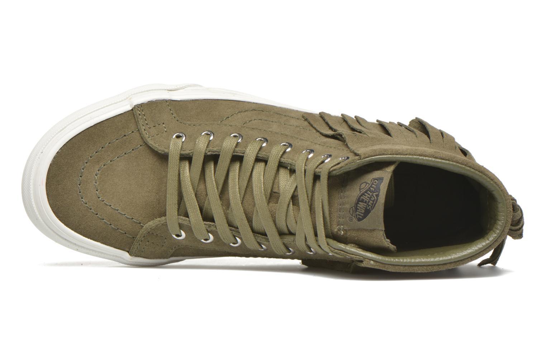 Sneakers Vans SK8-Hi Moc Verde immagine sinistra