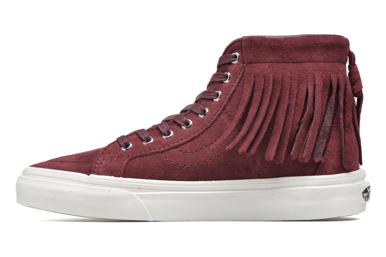 Sneakers Vans SK8-Hi Moc Rosso immagine frontale