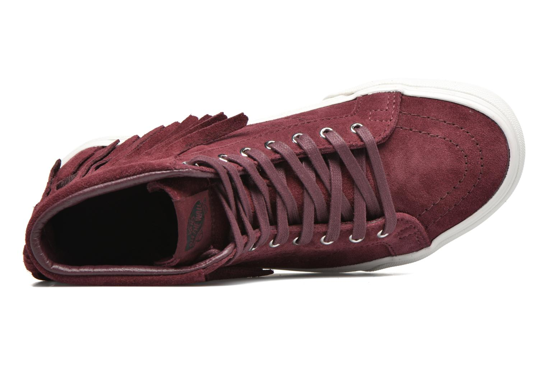 Sneakers Vans SK8-Hi Moc Rød se fra venstre