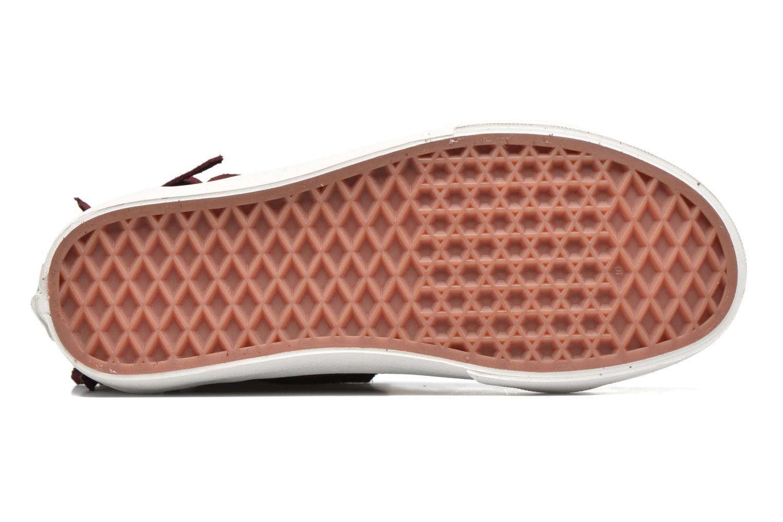 Sneakers Vans SK8-Hi Moc Rosso immagine dall'alto
