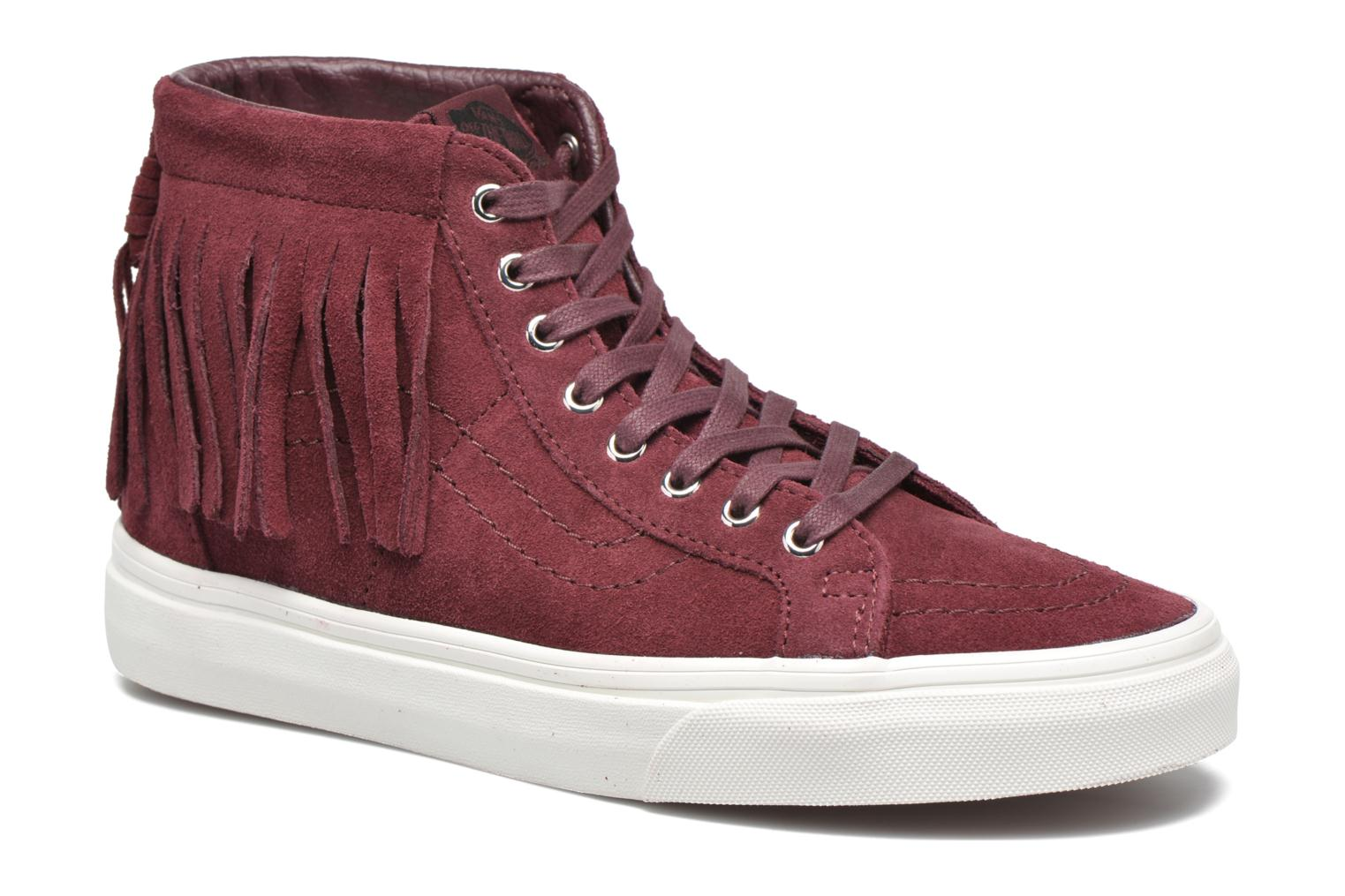 Trainers Vans SK8-Hi Moc Red detailed view/ Pair view