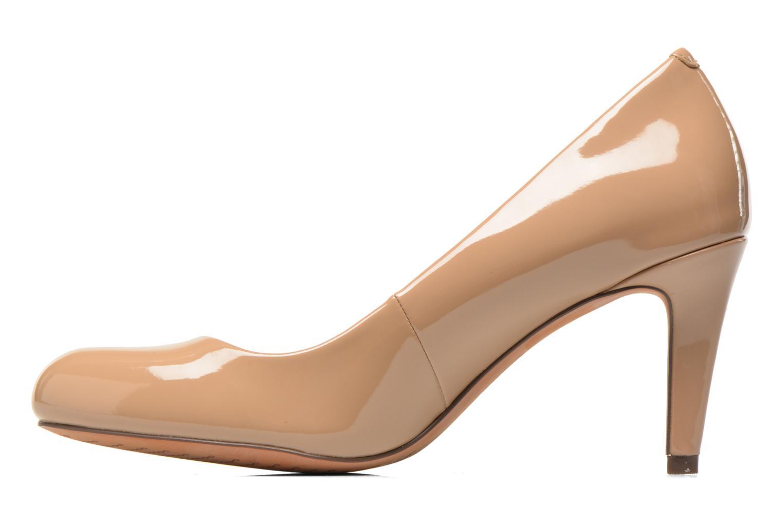 High heels Clarks Carlita Cove Beige front view