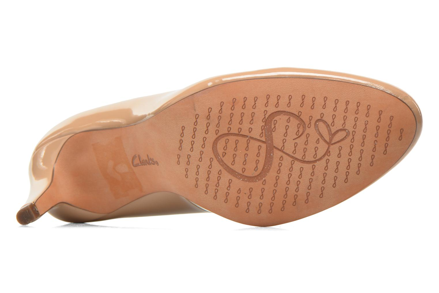 High heels Clarks Carlita Cove Beige view from above