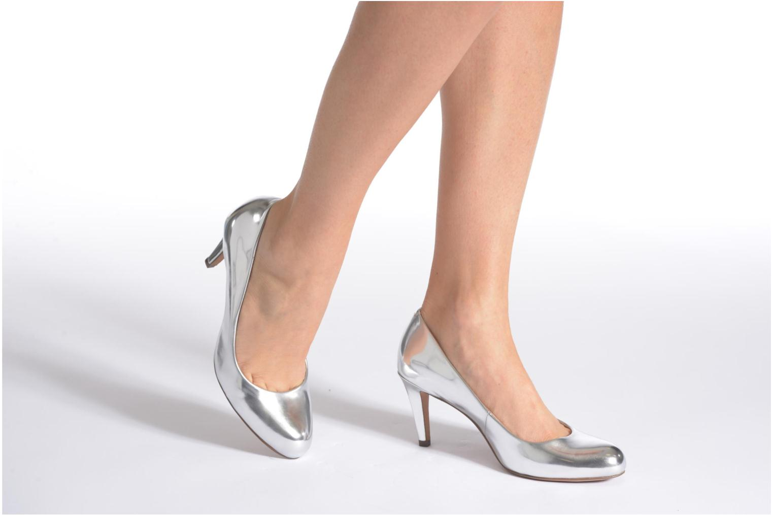 High heels Clarks Carlita Cove Silver view from underneath / model view