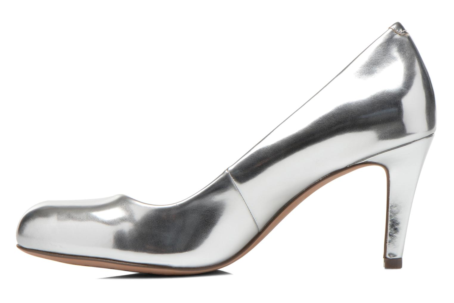 High heels Clarks Carlita Cove Silver front view