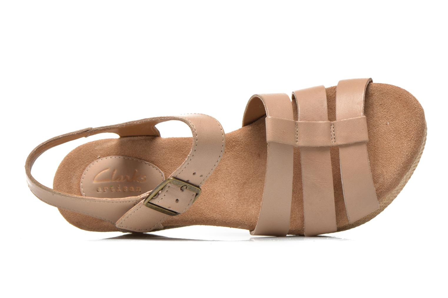 Sandals Clarks Caslynn Harp Beige view from the left