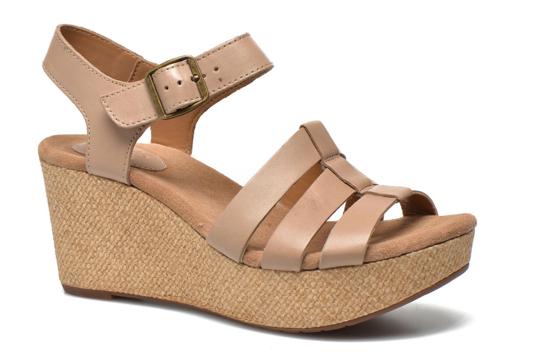 Sandales et nu-pieds Clarks Caslynn Harp Beige vue détail/paire