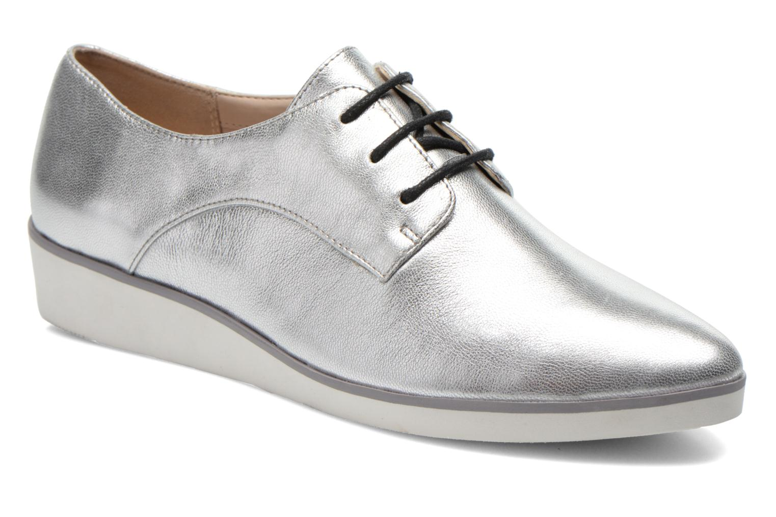 Lace-up shoes Clarks Cressida Grace Silver detailed view/ Pair view