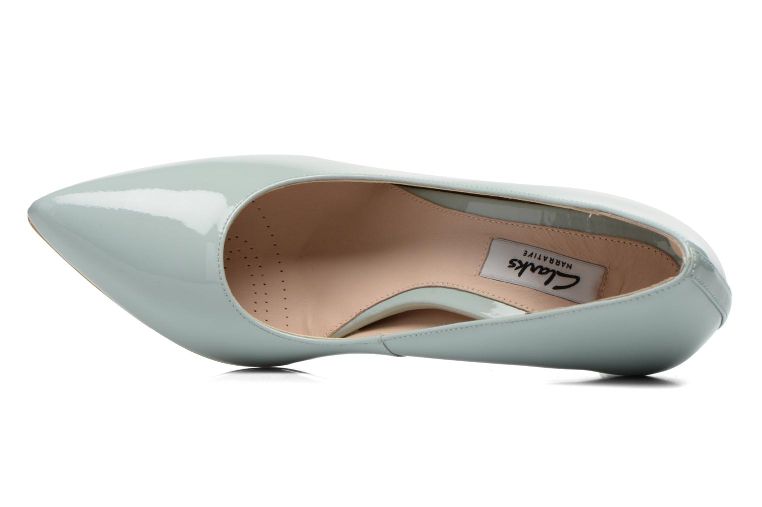 High heels Clarks Dinah Keer Blue view from the left