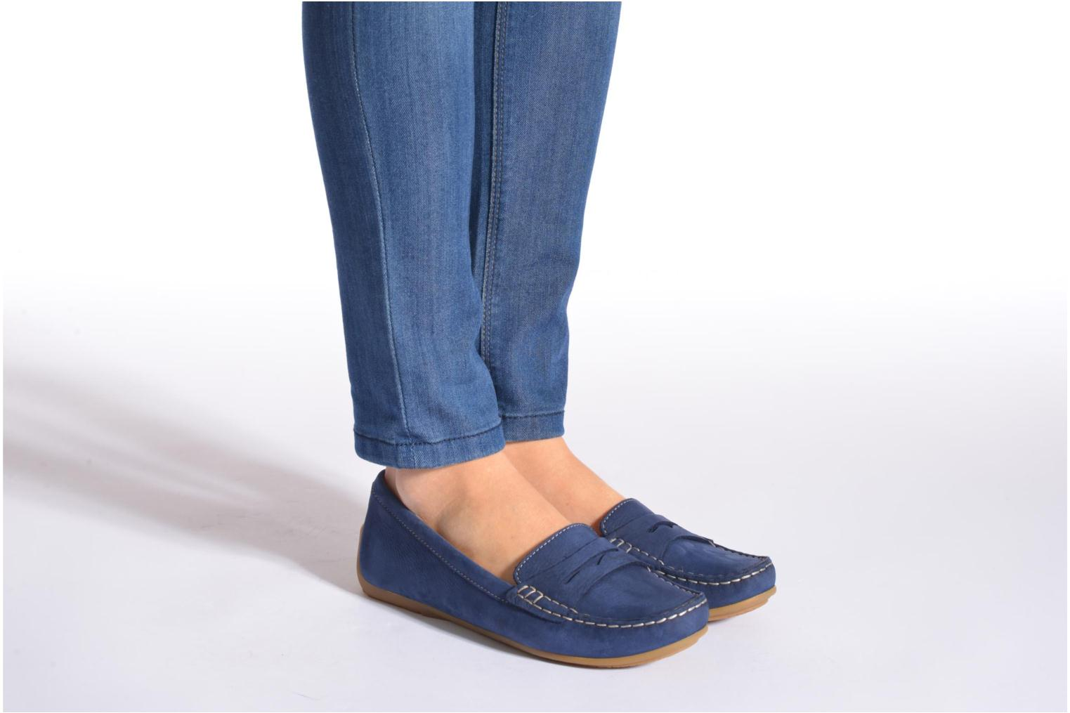 Loafers Clarks Doraville Nest Blue view from underneath / model view