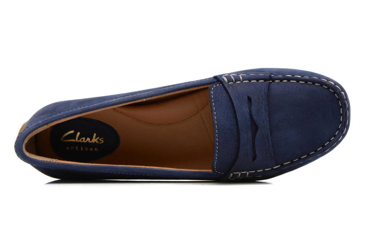 Loafers Clarks Doraville Nest Blue view from the left