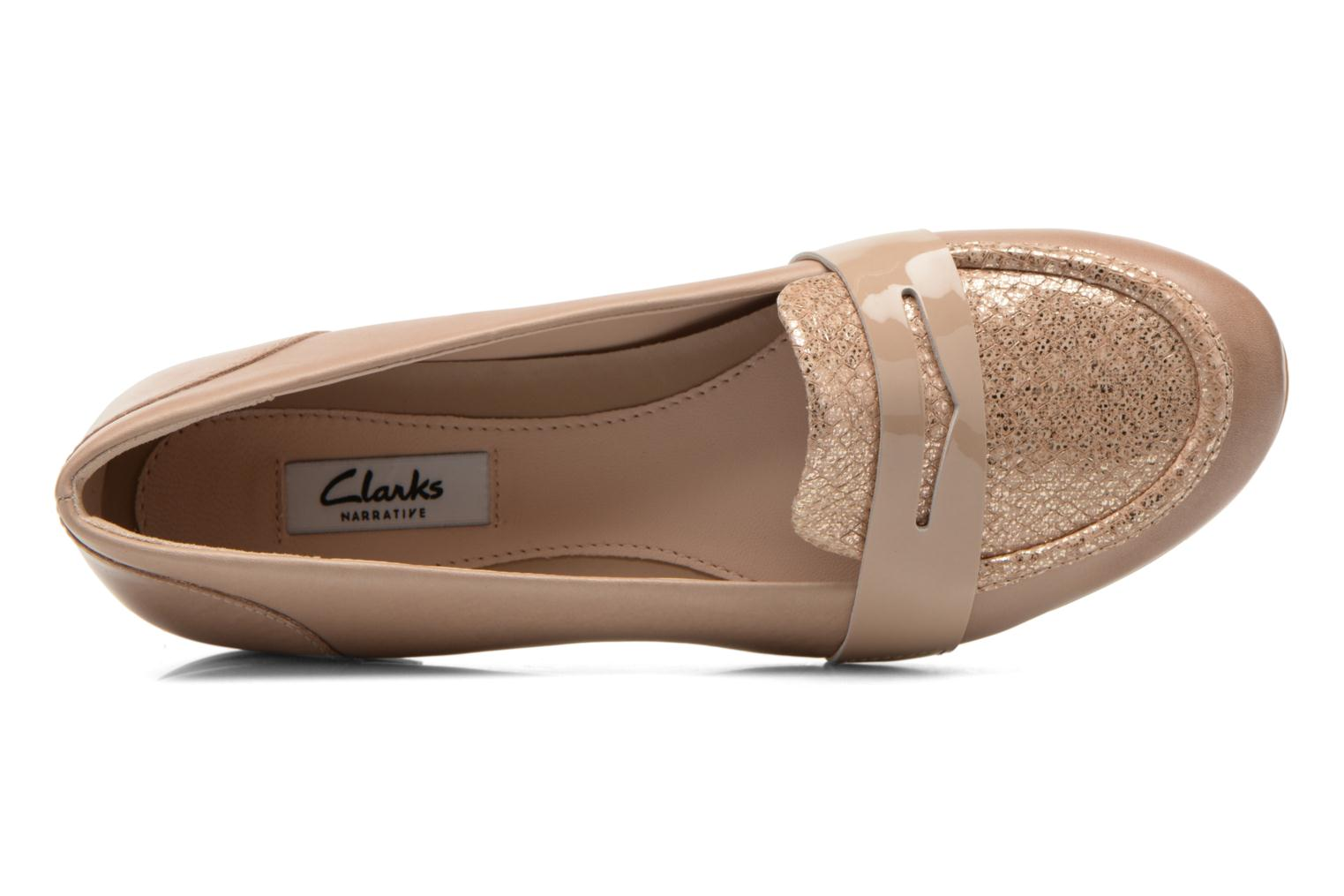 Loafers Clarks Festival Grace Beige view from the left