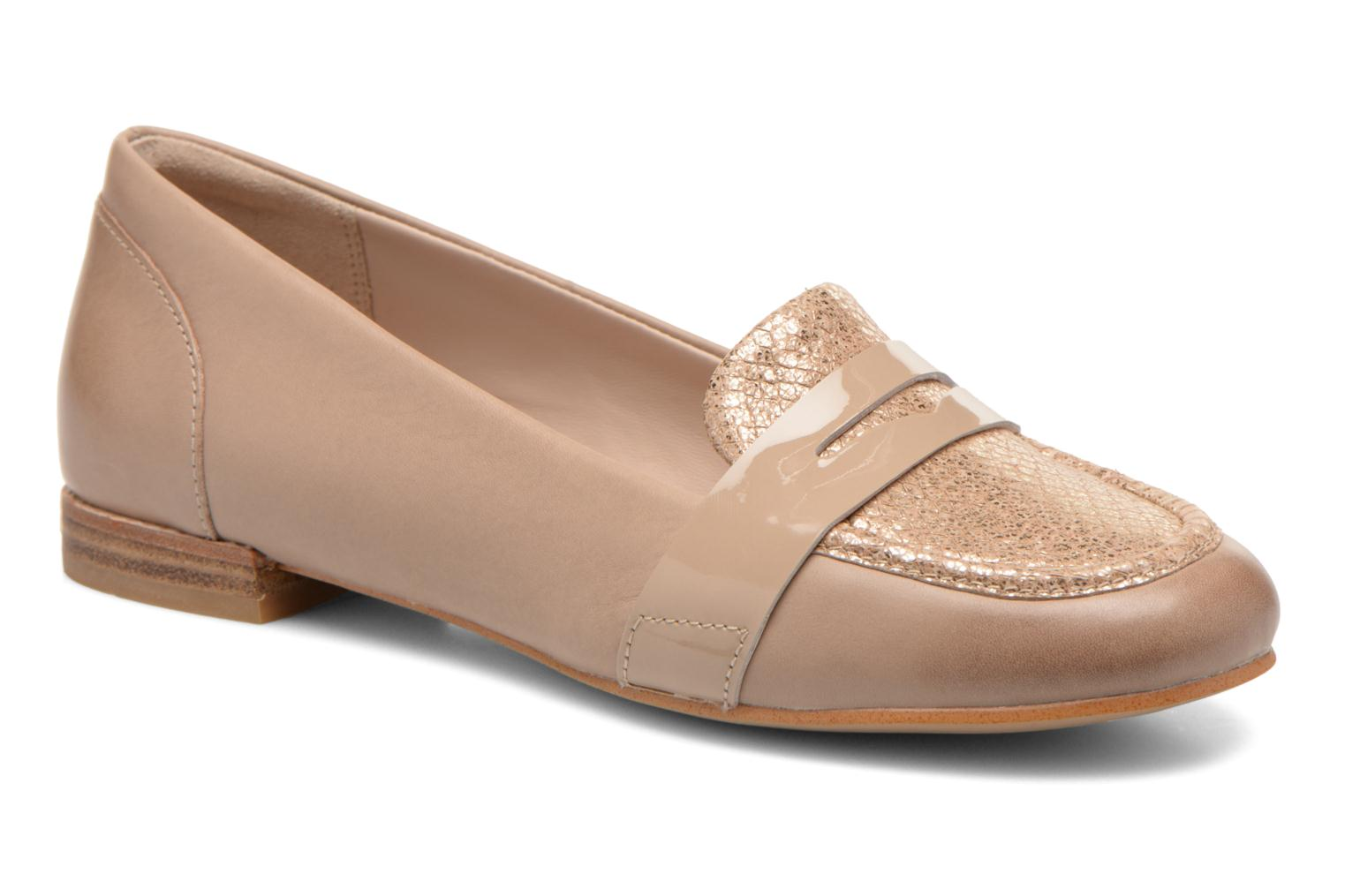 Loafers Clarks Festival Grace Beige detailed view/ Pair view