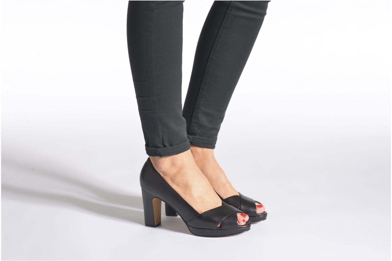 Zapatos de tacón Clarks Jenness Cloud Negro vista de abajo
