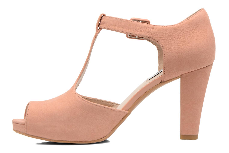 Zapatos de tacón Clarks Kendra Flower Rosa vista de frente