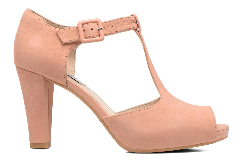 High heels Clarks Kendra Flower Pink back view