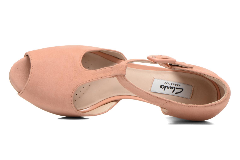 Zapatos de tacón Clarks Kendra Flower Rosa vista lateral izquierda