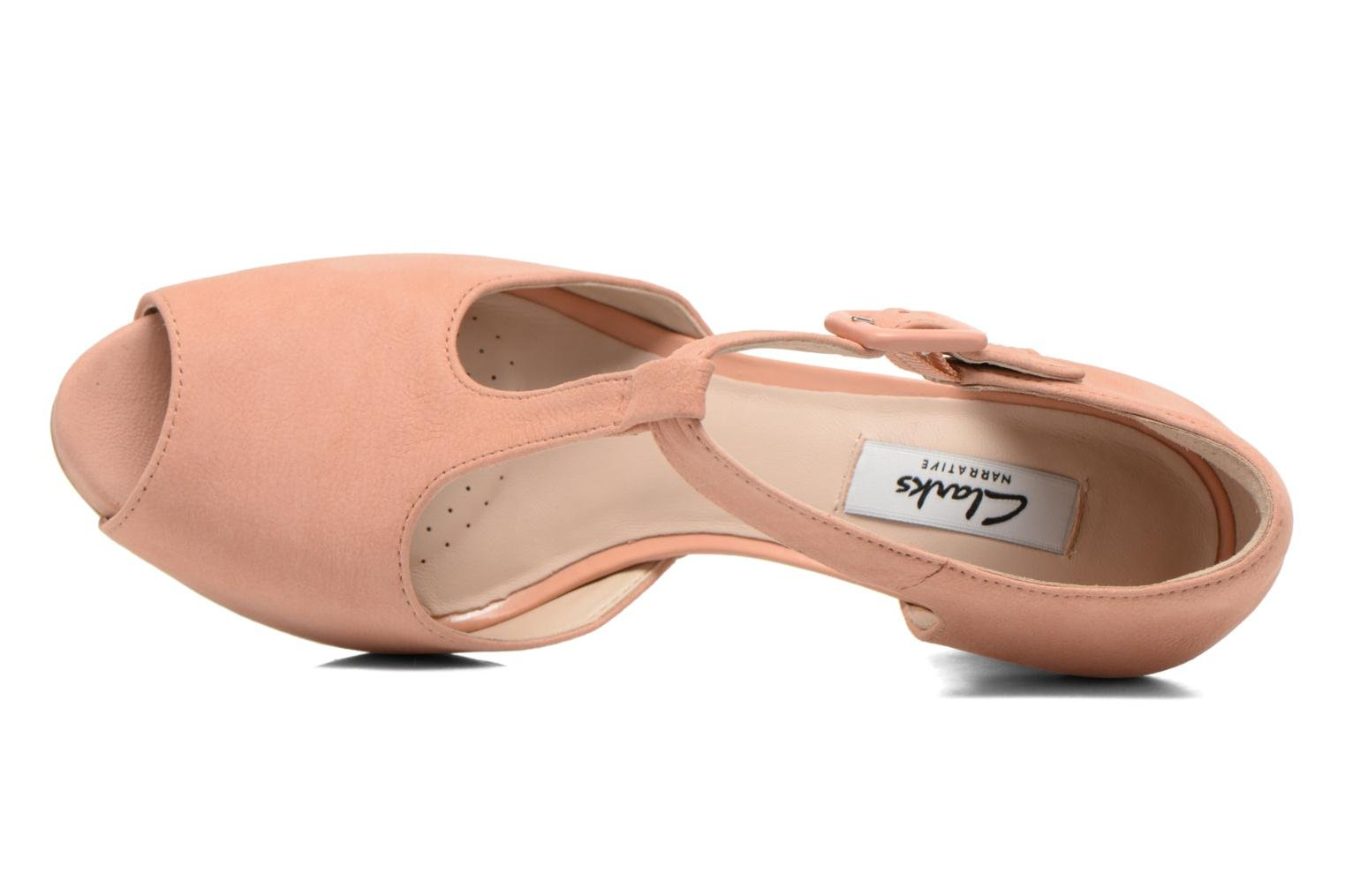 High heels Clarks Kendra Flower Pink view from the left