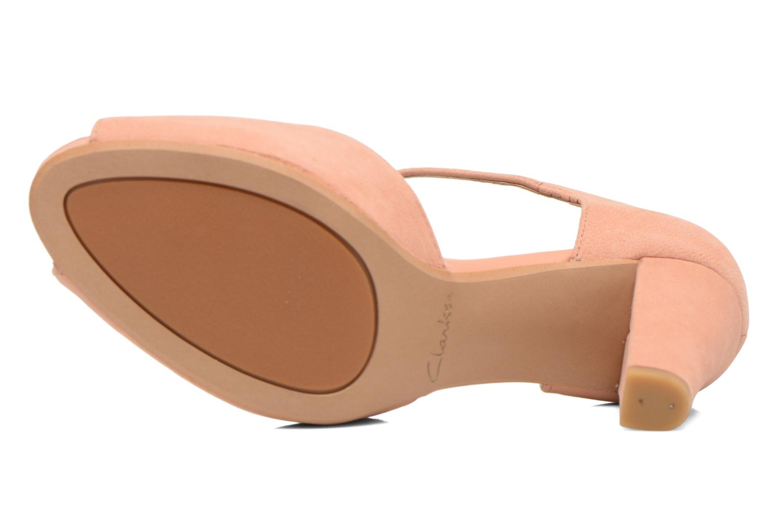 High heels Clarks Kendra Flower Pink view from above