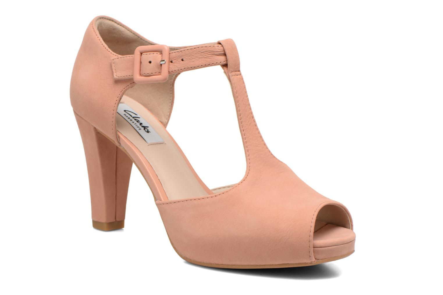 High heels Clarks Kendra Flower Pink detailed view/ Pair view