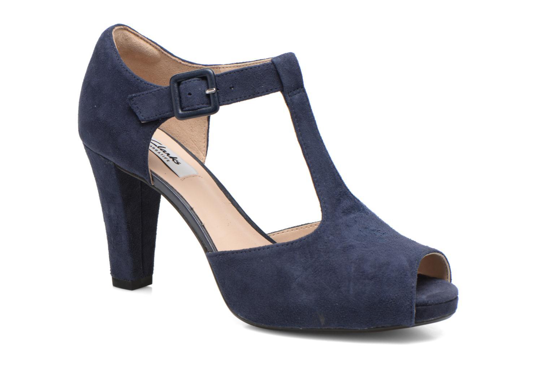 Høje hæle Clarks Kendra Flower Blå detaljeret billede af skoene