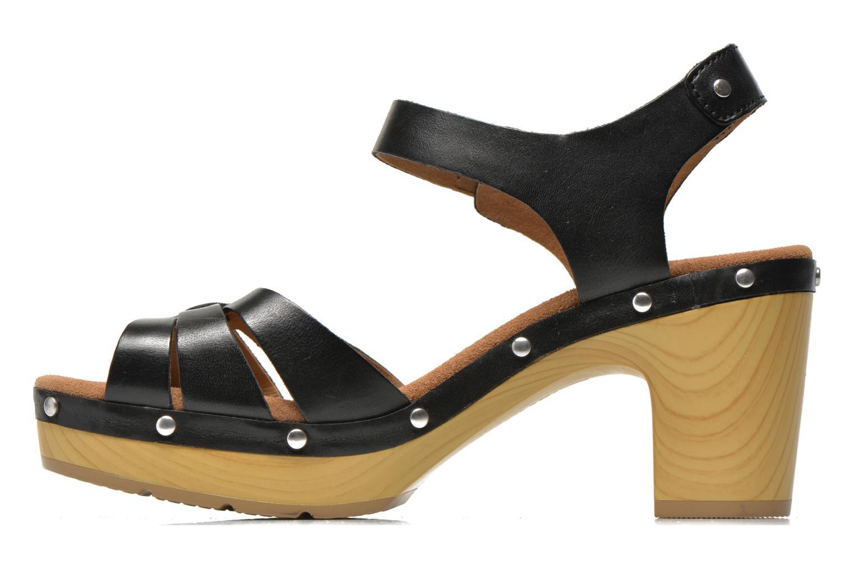 Sandales et nu-pieds Clarks Ledella Trail Noir vue face