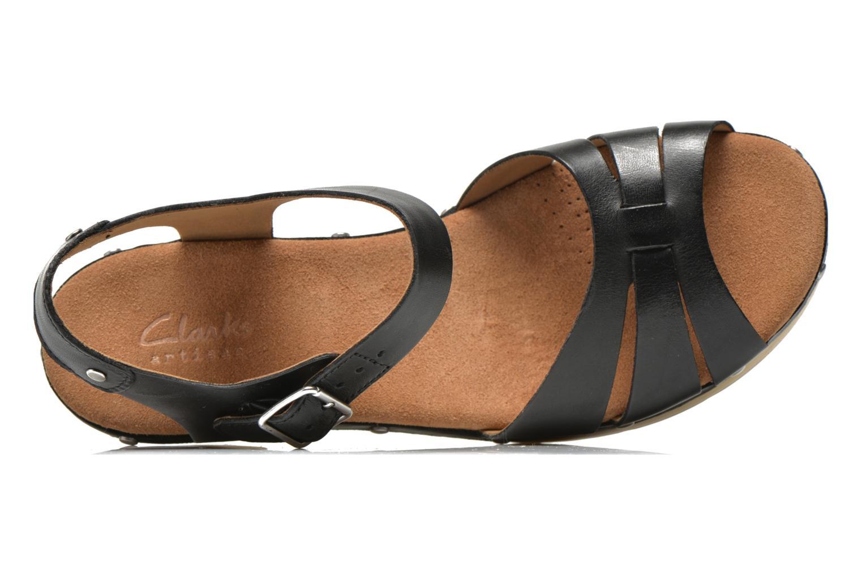 Sandales et nu-pieds Clarks Ledella Trail Noir vue gauche
