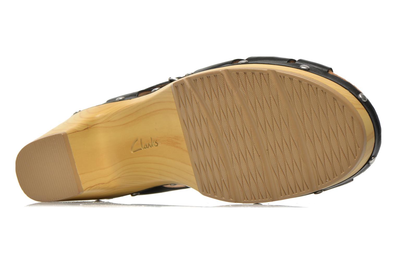 Sandales et nu-pieds Clarks Ledella Trail Noir vue haut
