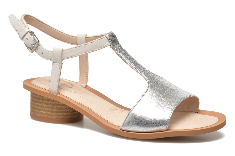 Sandales et nu-pieds Clarks Sandcastle Ice Argent vue détail/paire