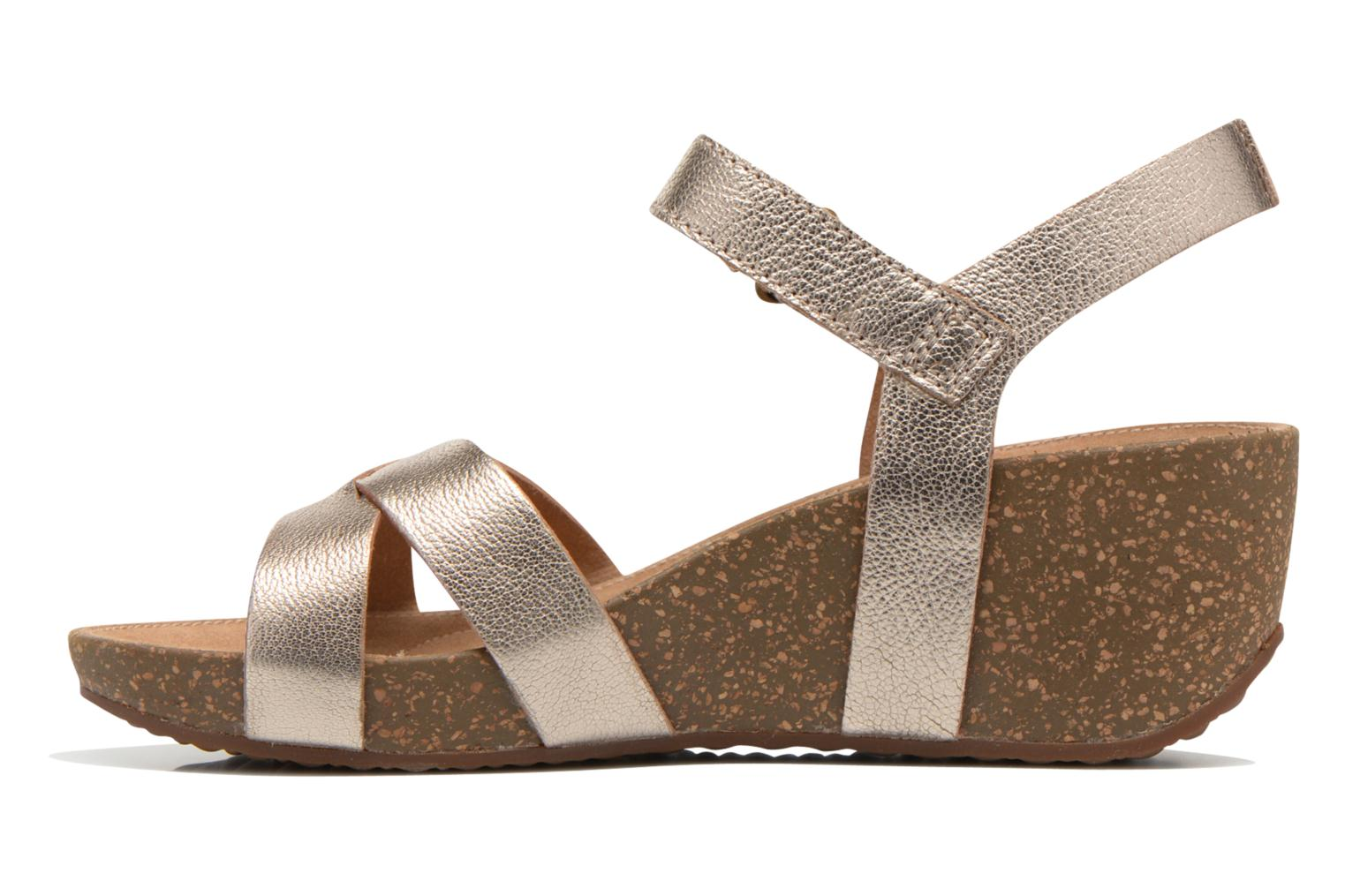 Sandals Clarks Temira Compass Bronze and Gold front view