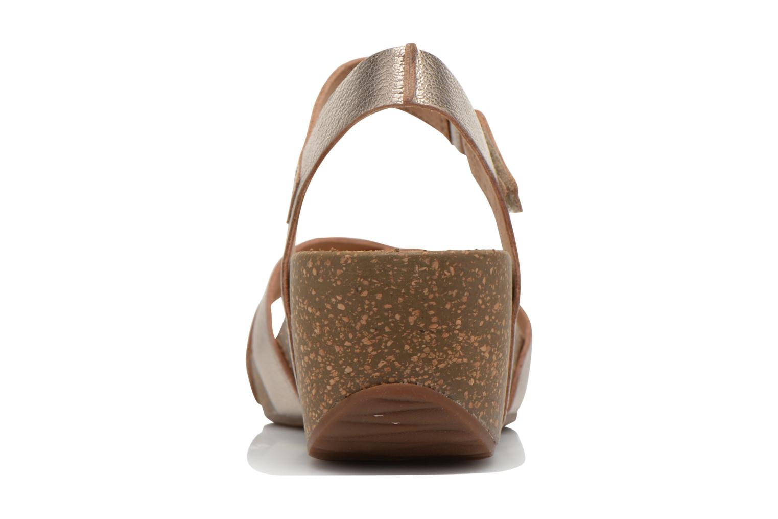 Sandals Clarks Temira Compass Bronze and Gold view from the right